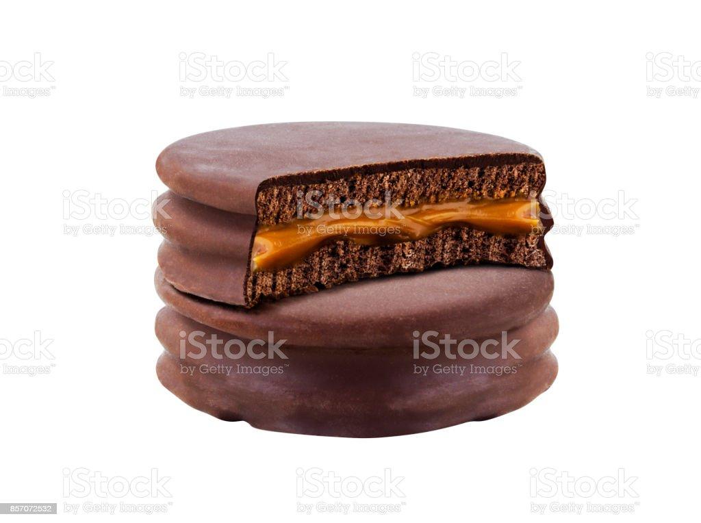galleta de chocolate intenso - foto de stock