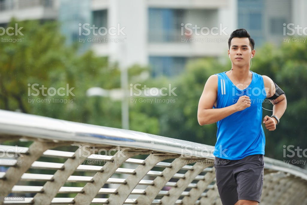 Intensive Training Outdoors stock photo