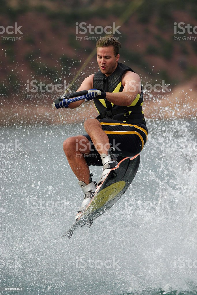 Intent Wakeboarder royalty-free stock photo