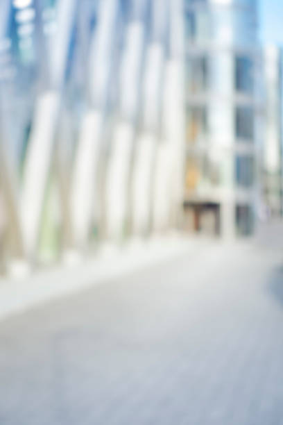 Intentionally defocused urban shopping mall background stock photo