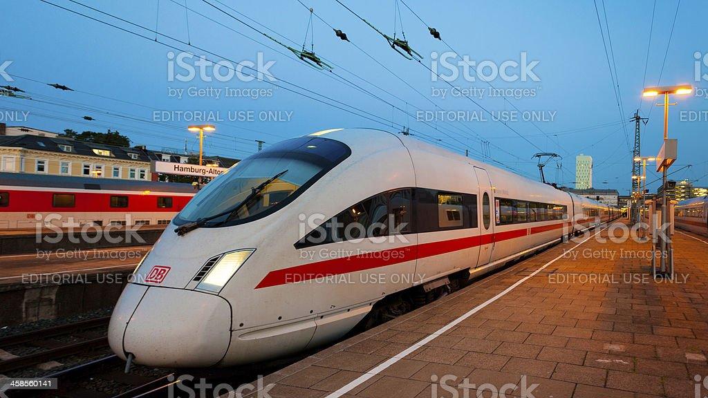 Inter City Express, Hamburg, Germany stock photo