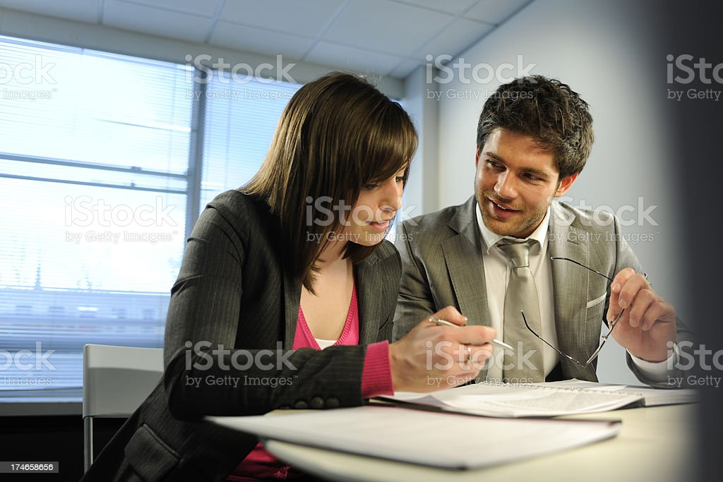 interacting business people royalty-free stock photo