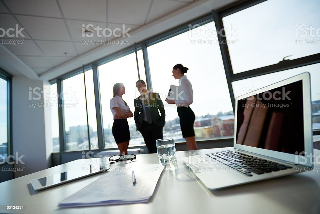 Interaction in office stock photo