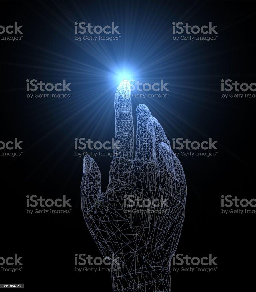 Interaktive Hand – Foto