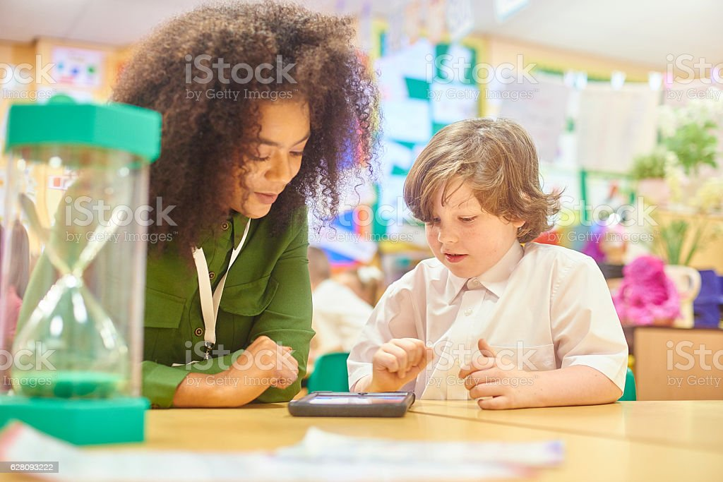 interactive learning stock photo