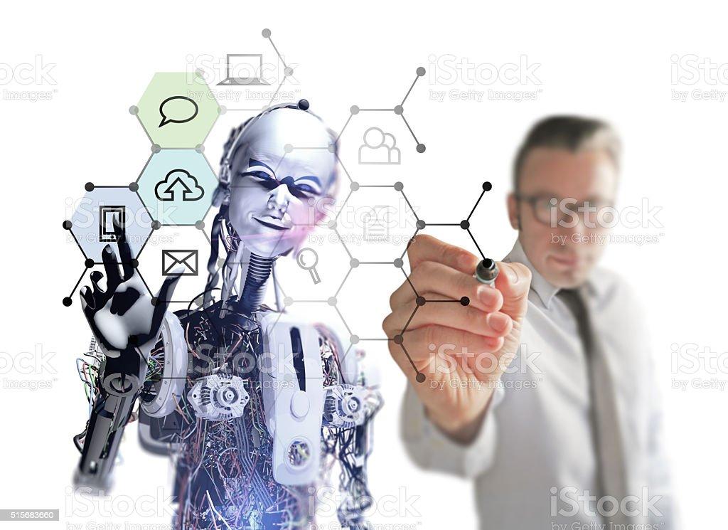 Interactive Media in Future stock photo