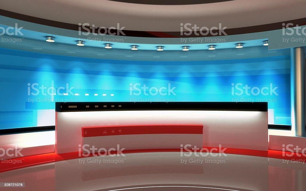 Interactive Studio BackgroundTv News Royalty Free Stock Photo