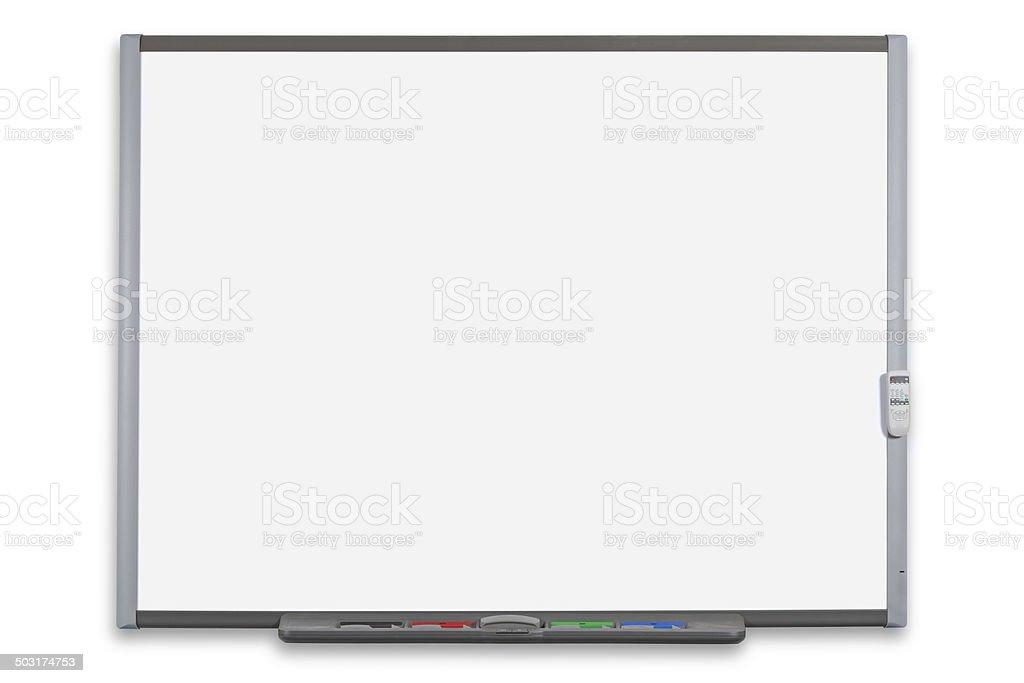 Interactive whiteboard isolated stock photo