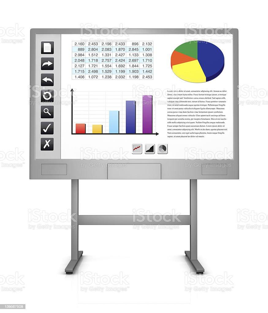 interactive whiteboard stock photo