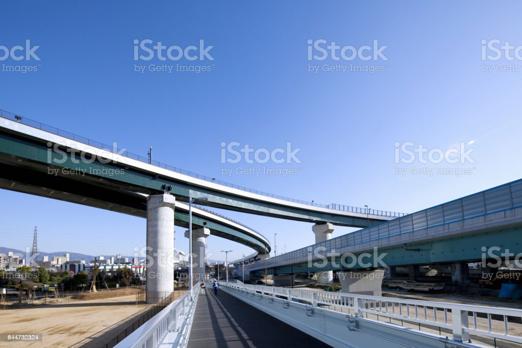 Interchange was completed stock photo