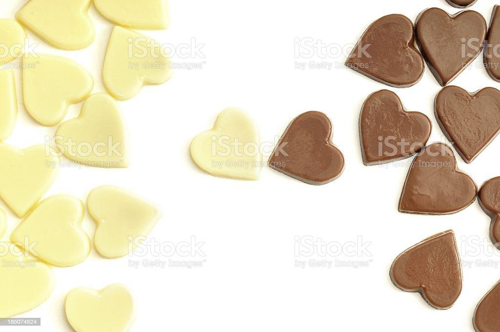 Inter-choc love stock photo