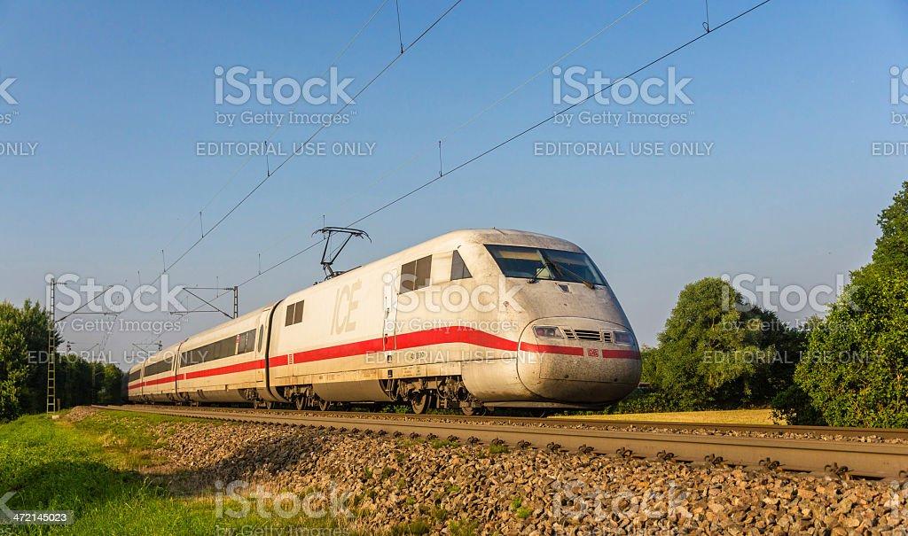 Intercity Express train of Deutsche Bahn stock photo