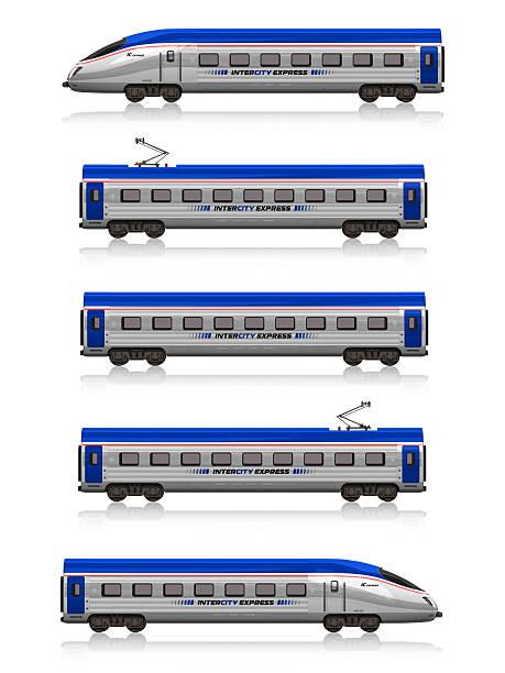 intercity express train set - järnvägsvagn tåg bildbanksfoton och bilder