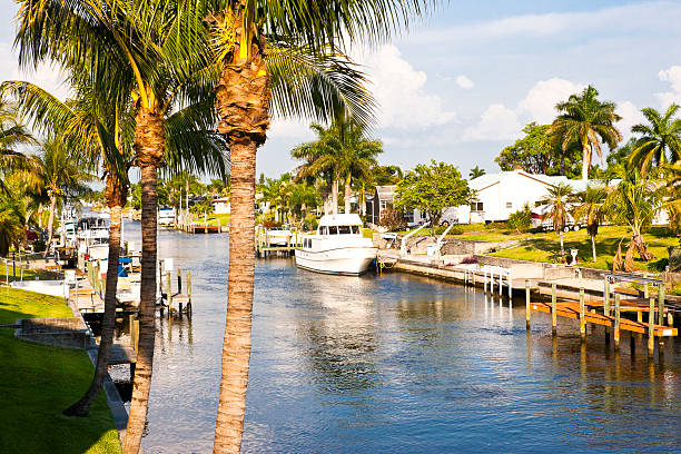 Intercoastal Florida Canal stock photo