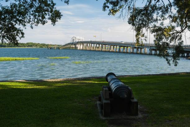 Intercoastal Waterway, Beaufort, SC stock photo