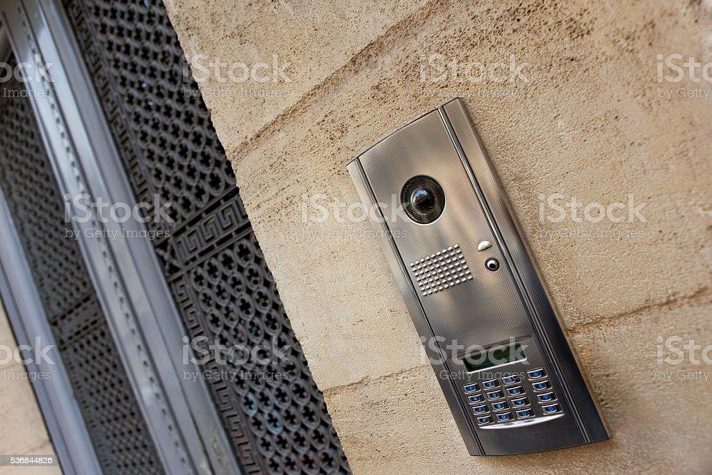 Intercom on a facade stock photo