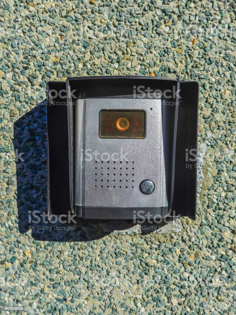 Intercom with camera stock photo