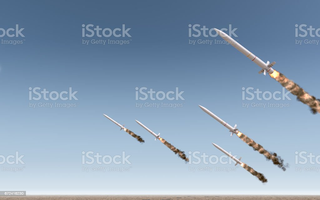 Intercontinental Ballistic Missile stock photo