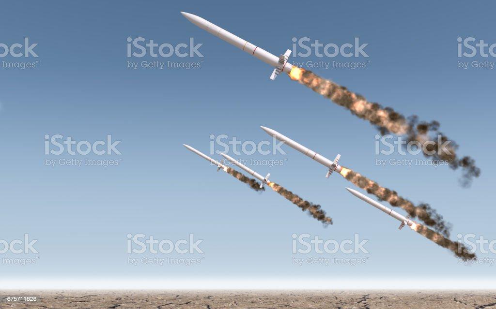 Intercontinental Ballistic Missile royalty-free stock photo