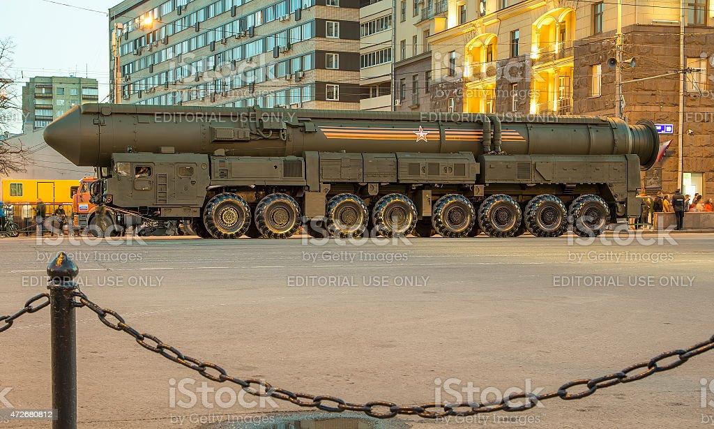 Intercontinental ballistic missile Topol-M. Russia stock photo