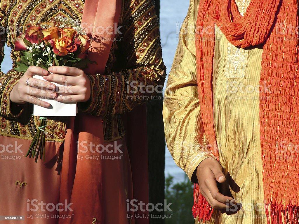 Inter-cultural wedding stock photo