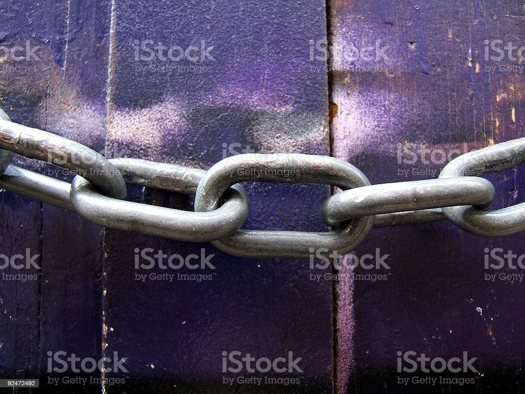 Interdiction - Chaine royalty-free stock photo