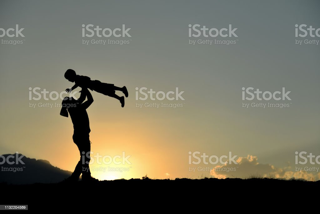 interest and games of the father's child stock photo