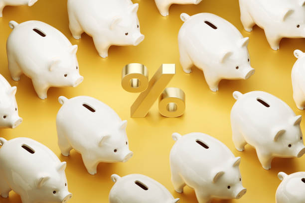 Interest Rate of Savings stock photo