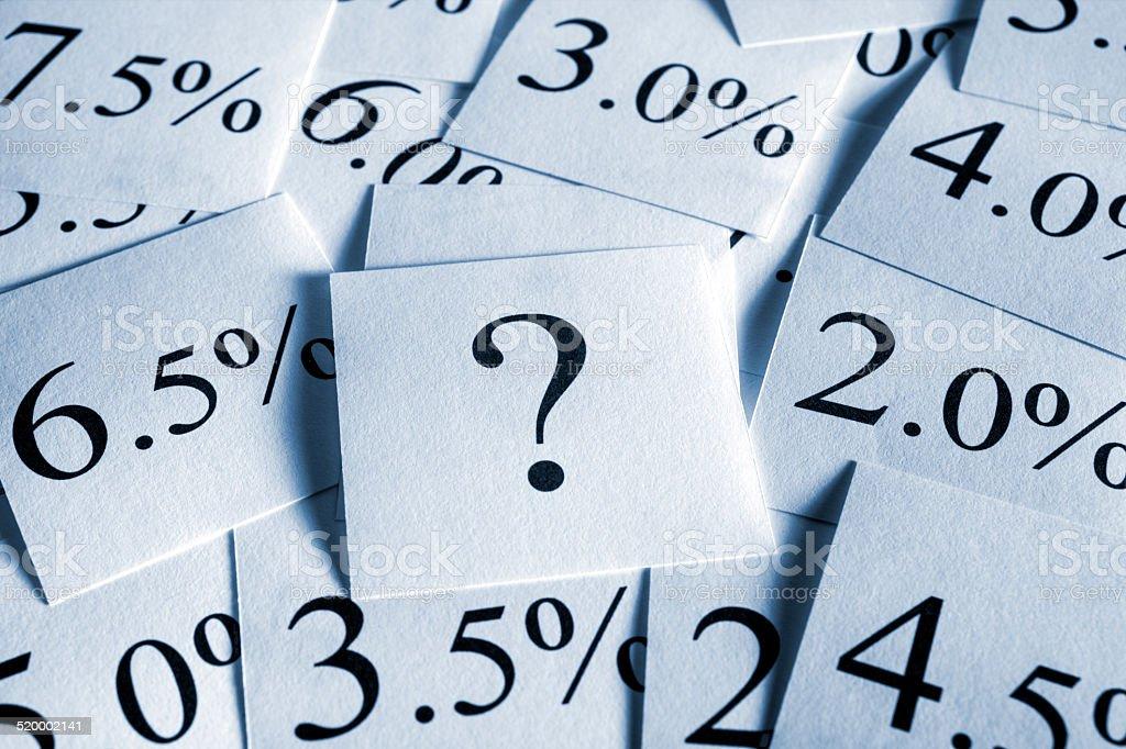 Zinssatz - Lizenzfrei Ersparnisse Stock-Foto