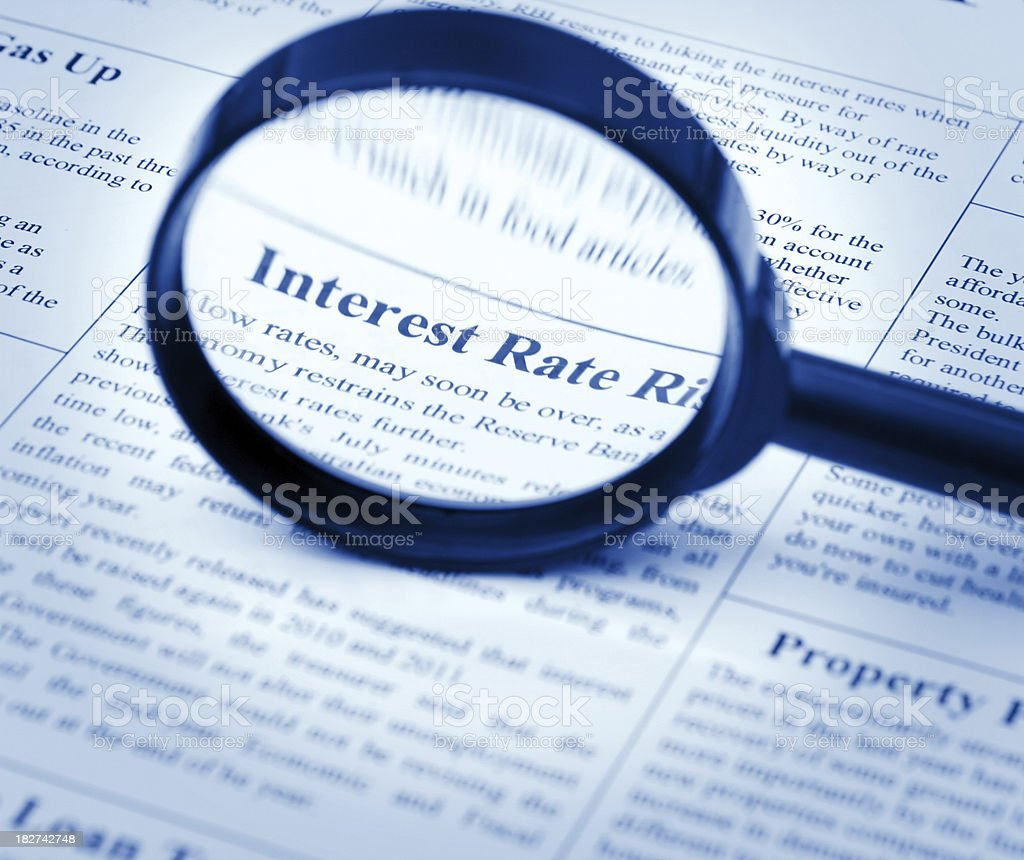 Interest Rate Rises royalty-free stock photo