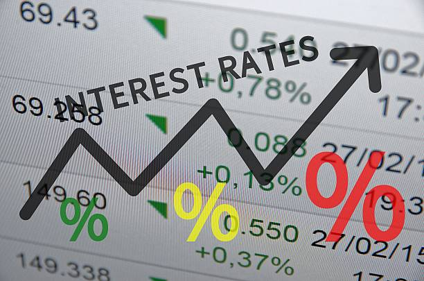 interest rates - interest rate stock photos and pictures