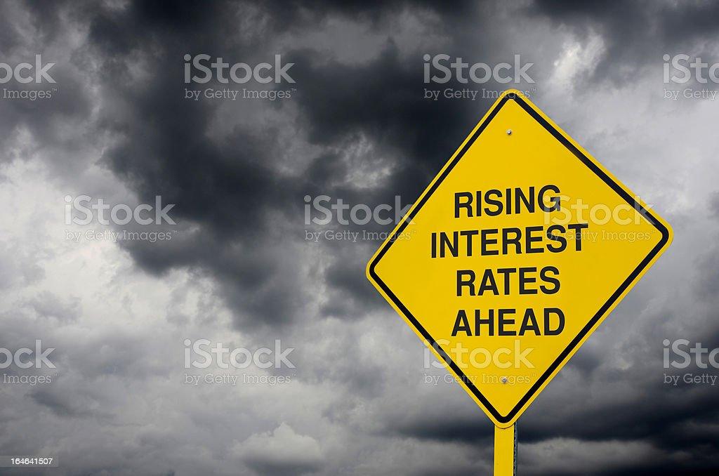 Interest Rates Warning Sign royalty-free stock photo