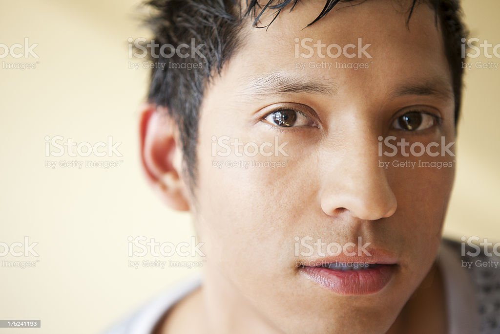Interested Look from Laitno Man royalty-free stock photo