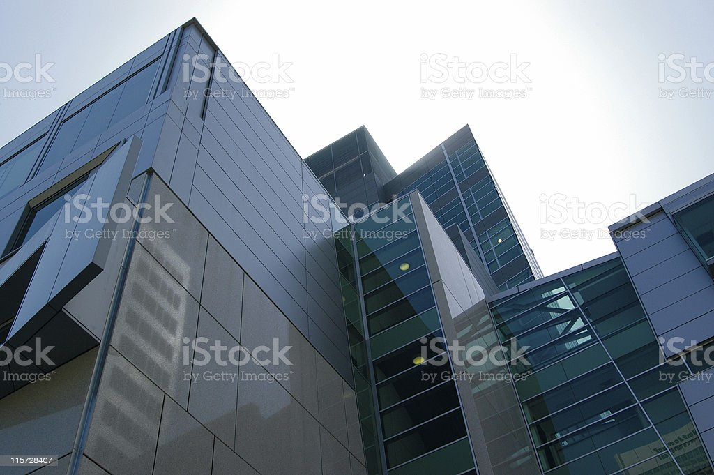 Interesting building roof royalty-free stock photo