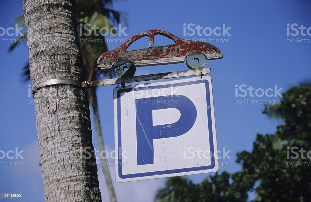 Interesting car park sign royalty-free stock photo