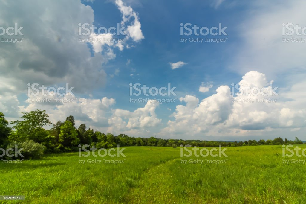 面白い雲オープン フィールド上に形成 - アメリカ合衆国のロイヤリティフリーストックフォト