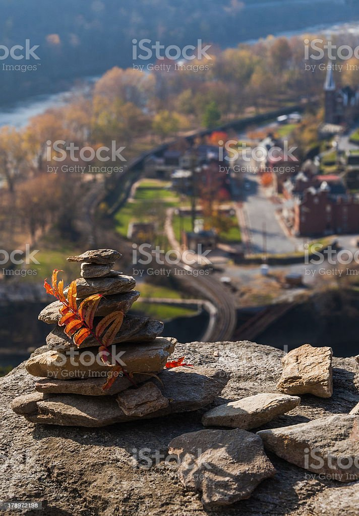 Interesting construction of rocks on Maryland Heights, above Harpers Ferry. royalty-free stock photo