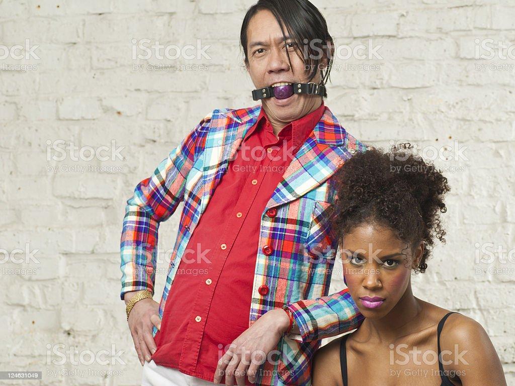 Interesting Couple stock photo