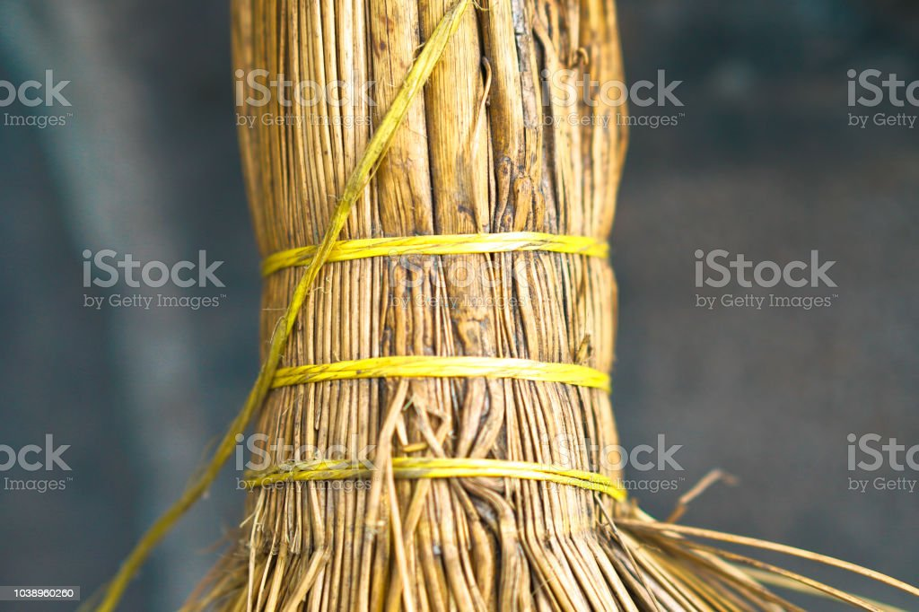 Interesting creative straw texture. Art Background stock photo