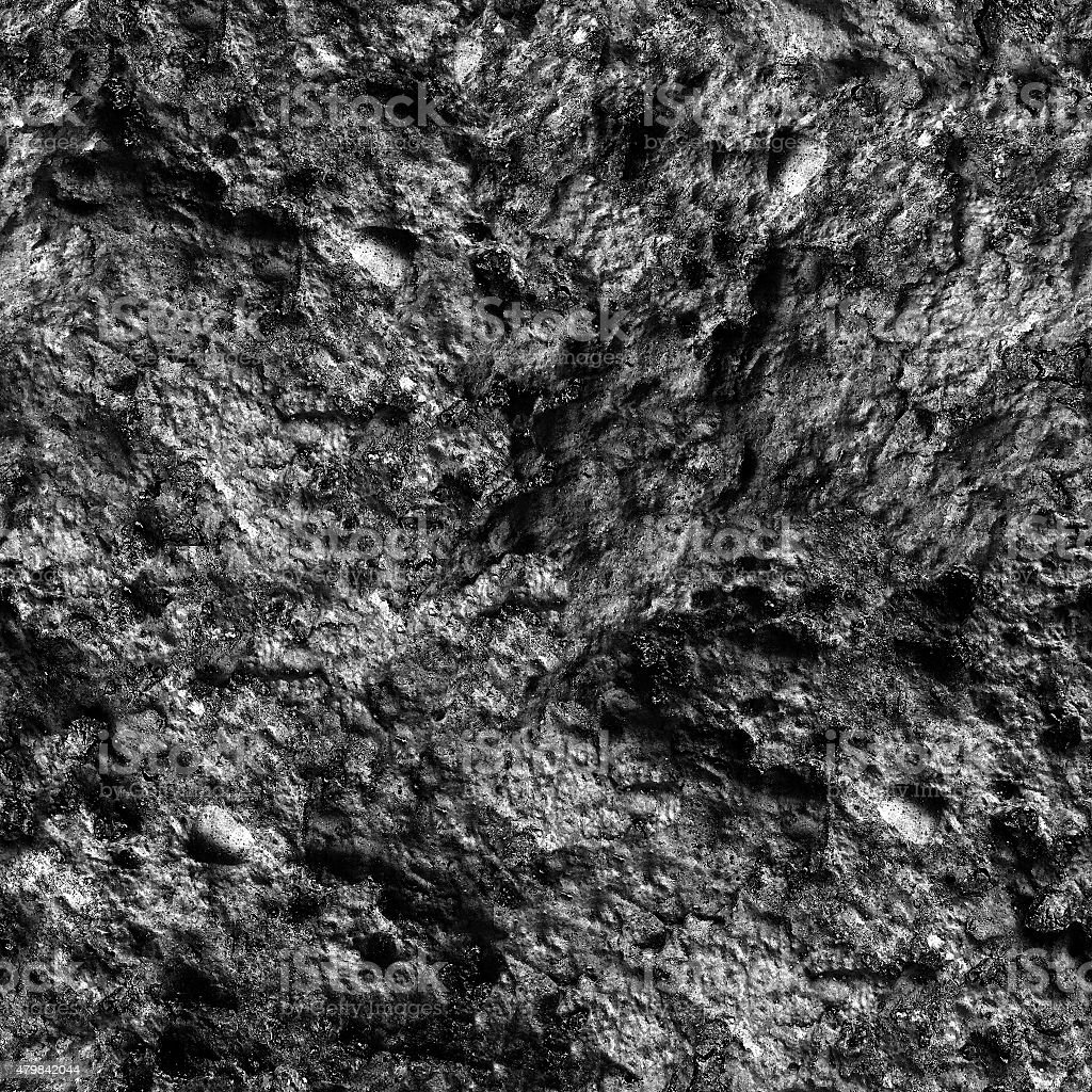 . Interesting Large Heavy Old Square Uneven Black Stone Texture Stock Photo    Download Image Now