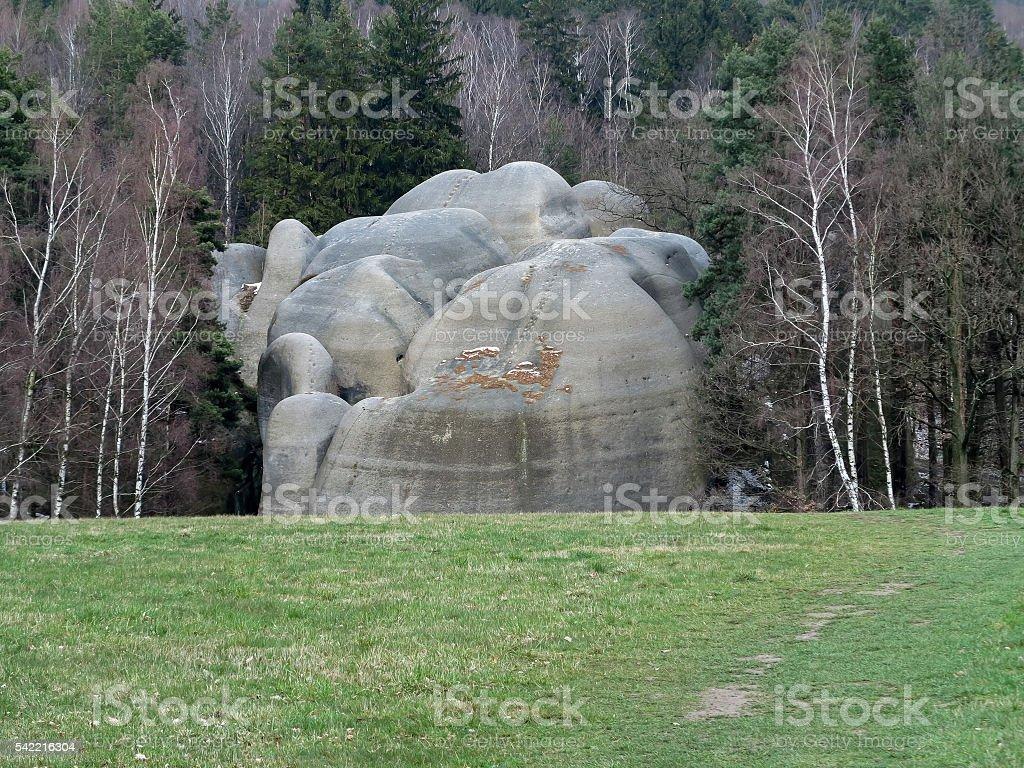 Interesting rock formation  - Elephant Rocks stock photo