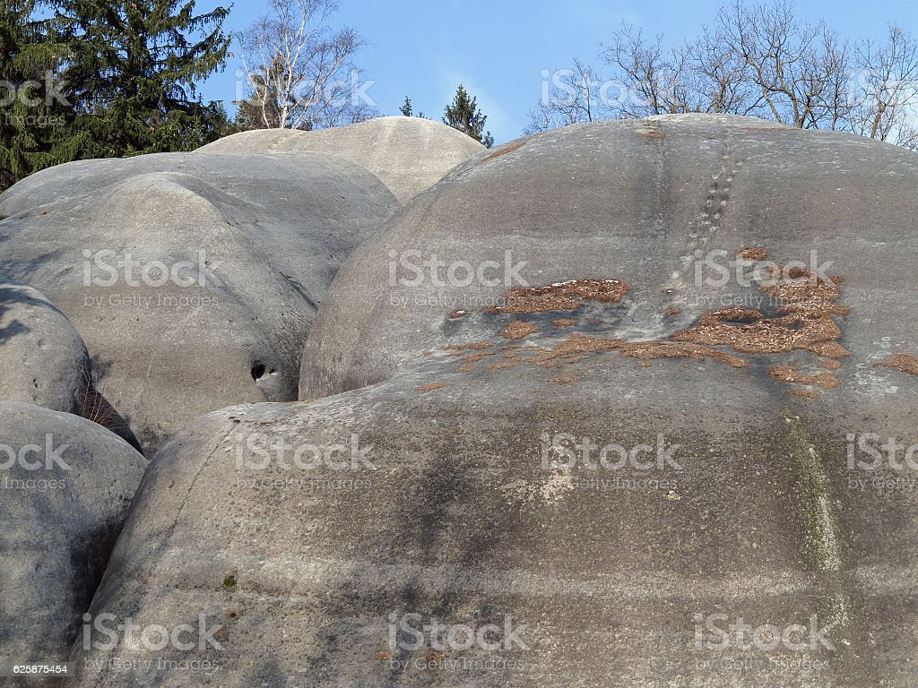 Interesting rock formation Elephant Rocks stock photo