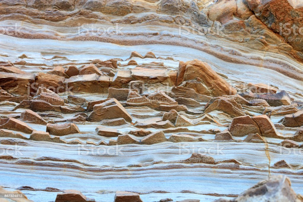 Interesting Rock Formations Of Gokceada stock photo