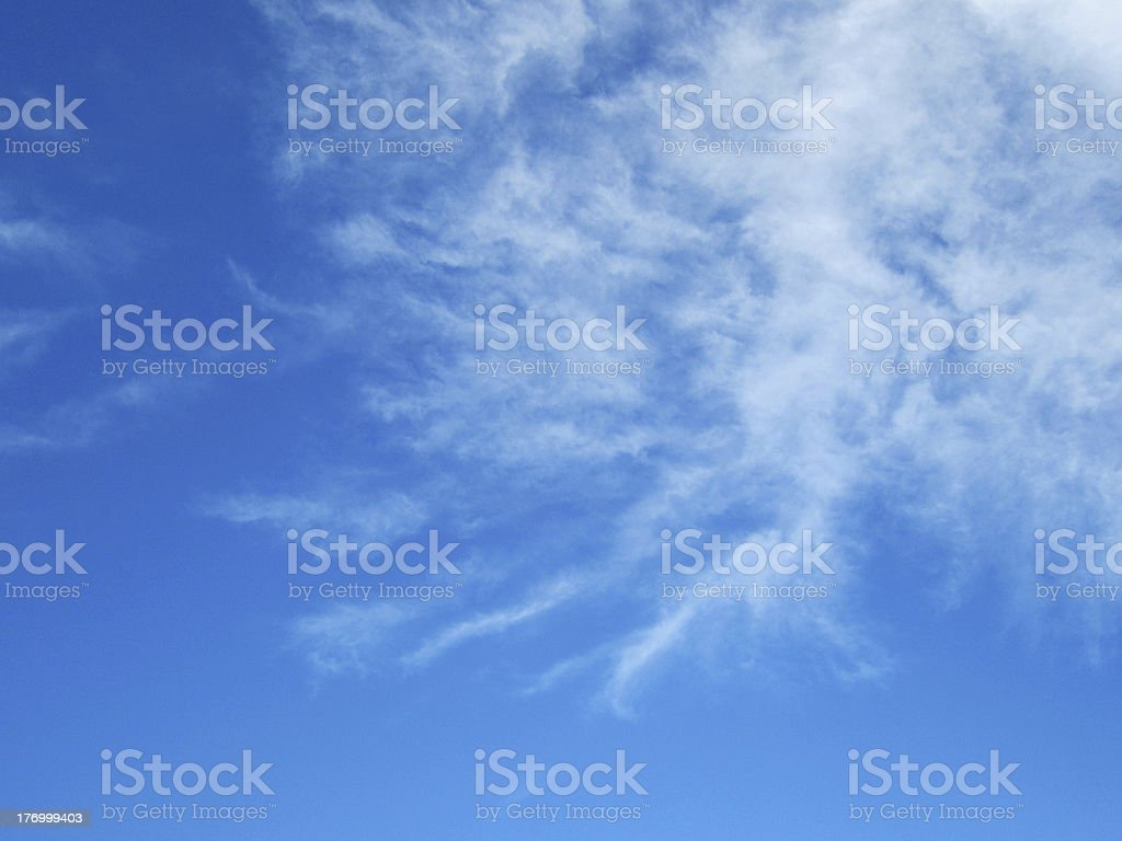 interesting sky with clouds royalty-free stock photo