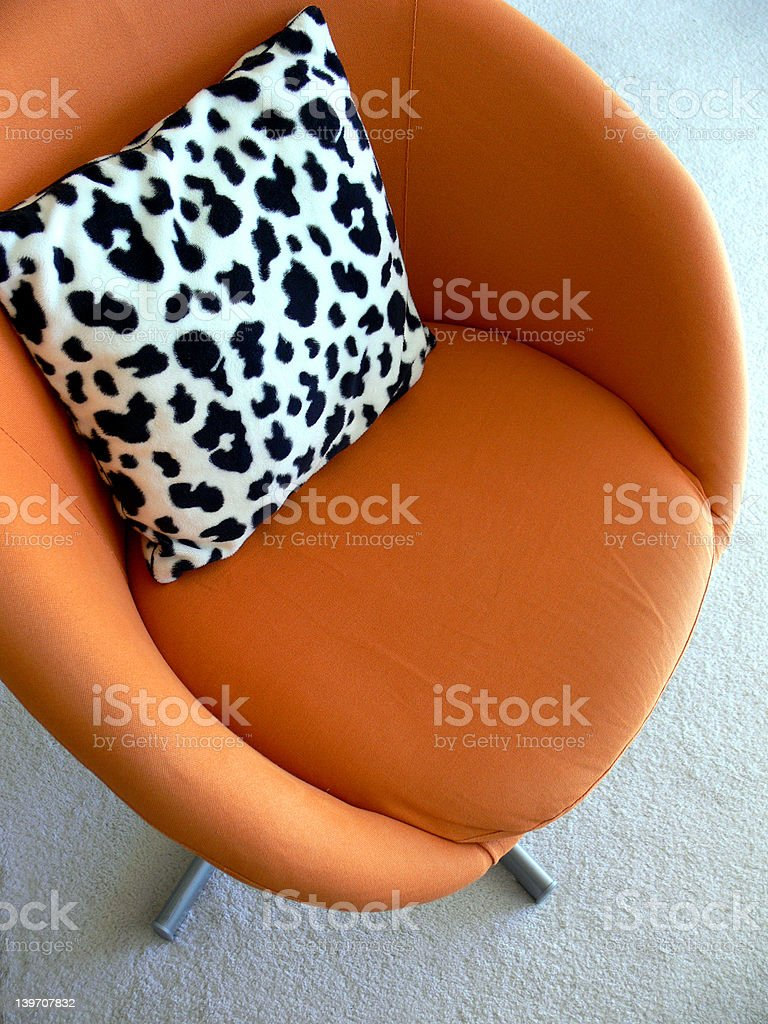 Interesting things - 60's Pop style chair royalty-free stock photo