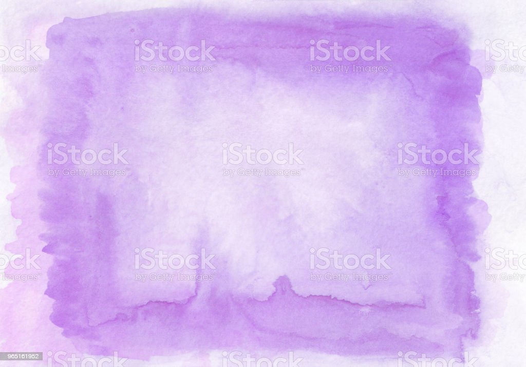 Interesting two layer lilac and violet watercolour horizontal gradient background with painted on the special watercolor paper.The middle is lighter than other sides of image. Good for valentines and etc zbiór zdjęć royalty-free