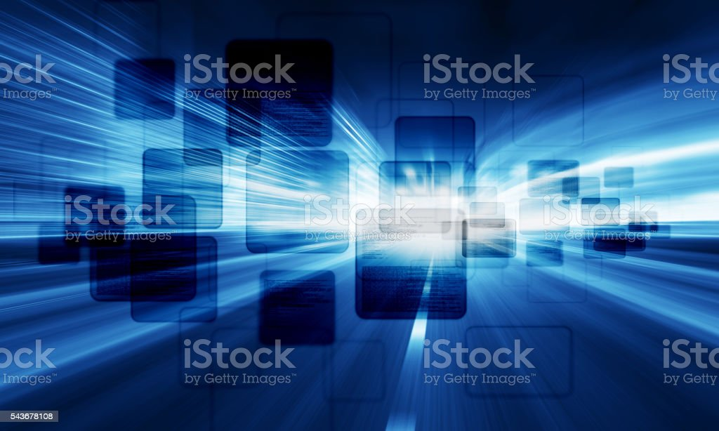 Interface concept stock photo