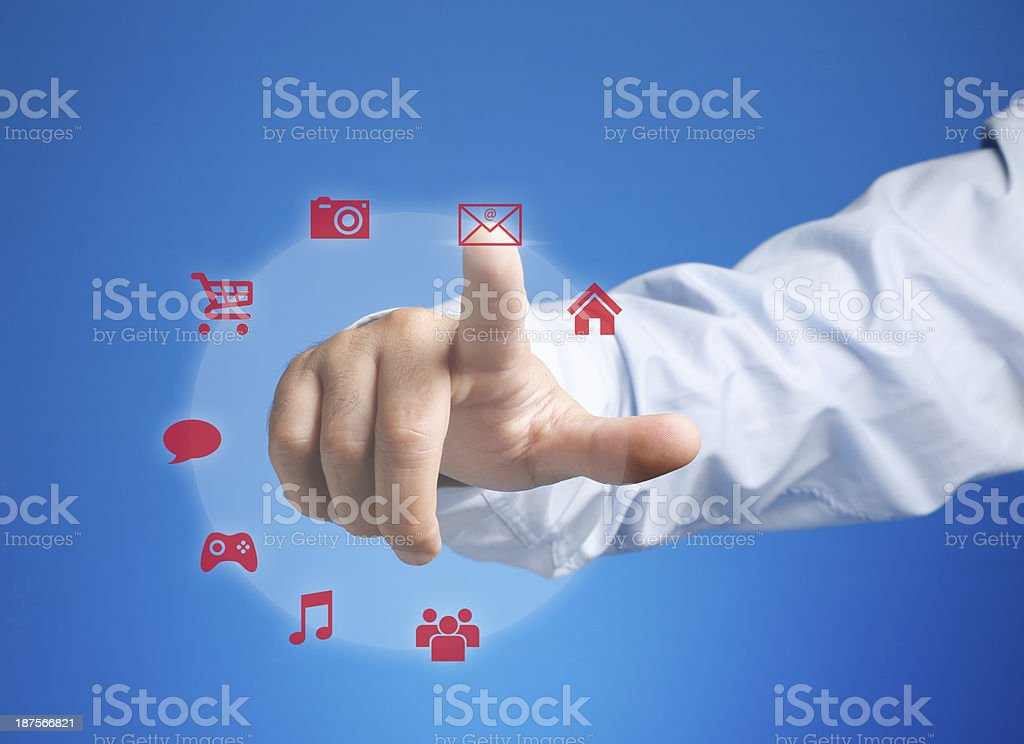 Interface Touch royalty-free stock photo