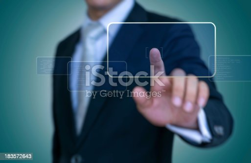 Interface Touch - Stock Image