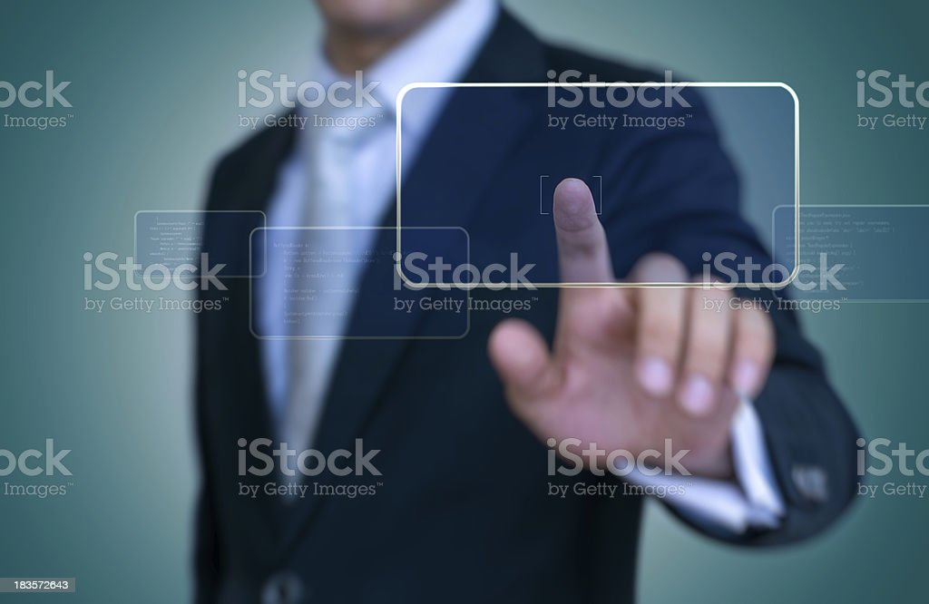 Interface Touch - Stock Image stock photo